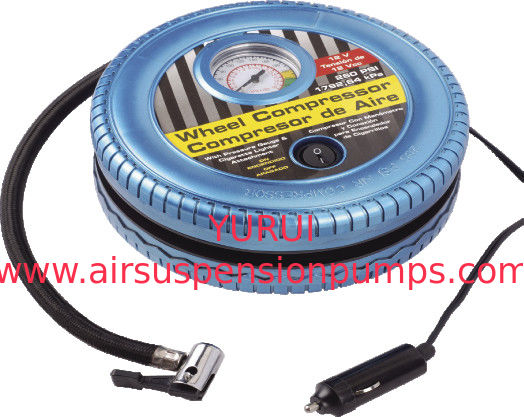 Tire Shape Portable Car Air Compressor Tyre Inflator Plastic DC12V