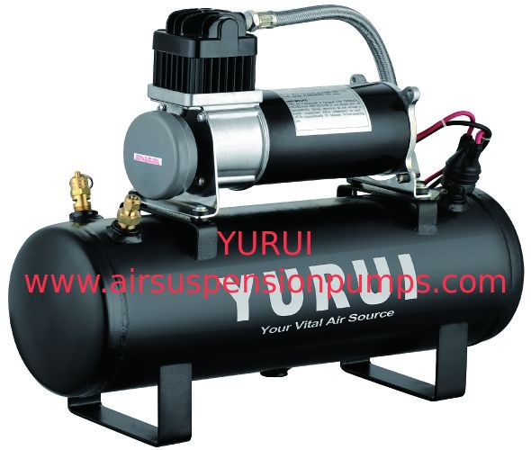 Black 1.5 Gallon Air Compressor For Cars , Heavy Duty Air Compressor 12v