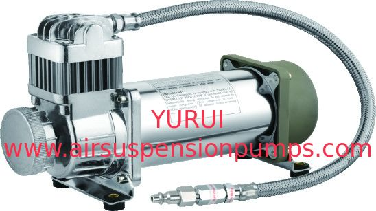 Silver Steel Air Lift Suspension Compressor System IP67 Moisture Resistant For Car