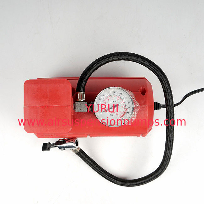 Red Vehicle Air Compressors Mini Air Pump Dc 12v 10ft Cord For Car  Bicycle