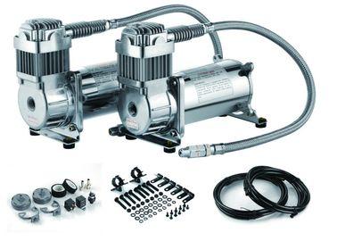 12V Doppeln 200 PSI Stahl Luft-Fahr Suspendierungs-Kompressor Doppelbehälter Luftkompressor